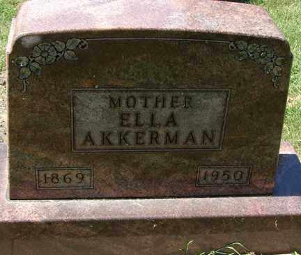 AKKERMAN, ELLA - Minnehaha County, South Dakota | ELLA AKKERMAN - South Dakota Gravestone Photos