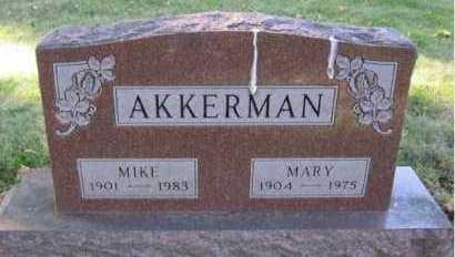 AKKERMAN, MARY - Minnehaha County, South Dakota | MARY AKKERMAN - South Dakota Gravestone Photos