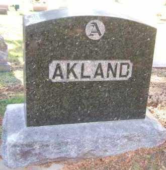 AKLAND, FAMILY STONE - Minnehaha County, South Dakota | FAMILY STONE AKLAND - South Dakota Gravestone Photos