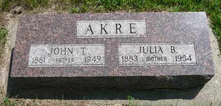 AKRE, JULIA B. - Minnehaha County, South Dakota | JULIA B. AKRE - South Dakota Gravestone Photos