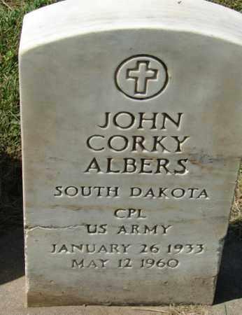 ALBERS, JOHN CORKY - Minnehaha County, South Dakota | JOHN CORKY ALBERS - South Dakota Gravestone Photos