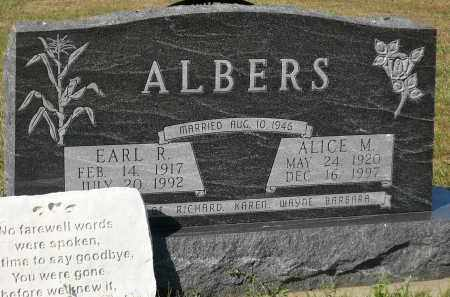 ALBERS, ALICE M. - Minnehaha County, South Dakota | ALICE M. ALBERS - South Dakota Gravestone Photos