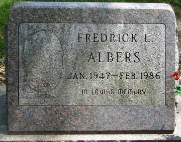 ALBERS, FREDRICK L. - Minnehaha County, South Dakota | FREDRICK L. ALBERS - South Dakota Gravestone Photos