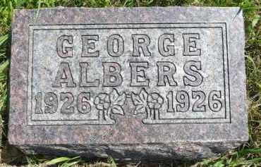 ALBERS, GEORGE - Minnehaha County, South Dakota   GEORGE ALBERS - South Dakota Gravestone Photos