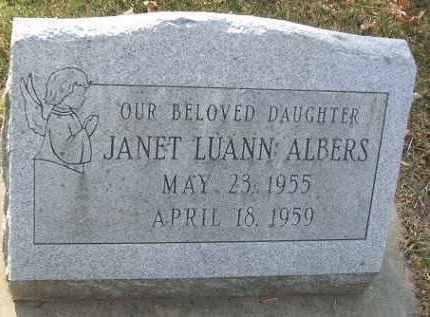 ALBERS, JANET LUANN - Minnehaha County, South Dakota   JANET LUANN ALBERS - South Dakota Gravestone Photos