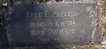 ALBERS, LYLE E. - Minnehaha County, South Dakota | LYLE E. ALBERS - South Dakota Gravestone Photos