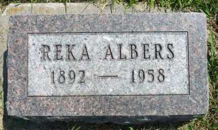 ALBERS, REKA - Minnehaha County, South Dakota | REKA ALBERS - South Dakota Gravestone Photos