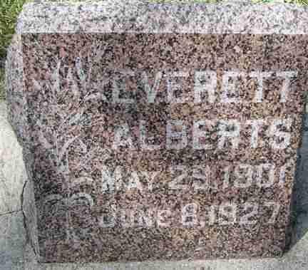 ALBERTS, EVERETT - Minnehaha County, South Dakota   EVERETT ALBERTS - South Dakota Gravestone Photos