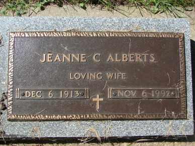 ALBERTS, JEANNE C. - Minnehaha County, South Dakota | JEANNE C. ALBERTS - South Dakota Gravestone Photos