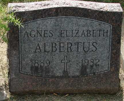 ALBERTUS, AGNES ELIZABETH - Minnehaha County, South Dakota | AGNES ELIZABETH ALBERTUS - South Dakota Gravestone Photos