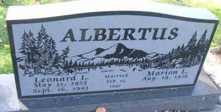 ALBERTUS, LEONARD L. - Minnehaha County, South Dakota | LEONARD L. ALBERTUS - South Dakota Gravestone Photos