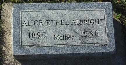 ALBRIGHT, ALICE ETHEL - Minnehaha County, South Dakota | ALICE ETHEL ALBRIGHT - South Dakota Gravestone Photos