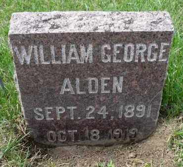 ALDEN, WILLIAM GEORGE - Minnehaha County, South Dakota | WILLIAM GEORGE ALDEN - South Dakota Gravestone Photos