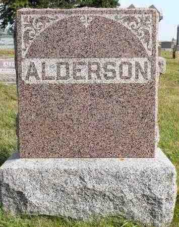 ALDERSON, FAMILY MARKER - Minnehaha County, South Dakota   FAMILY MARKER ALDERSON - South Dakota Gravestone Photos