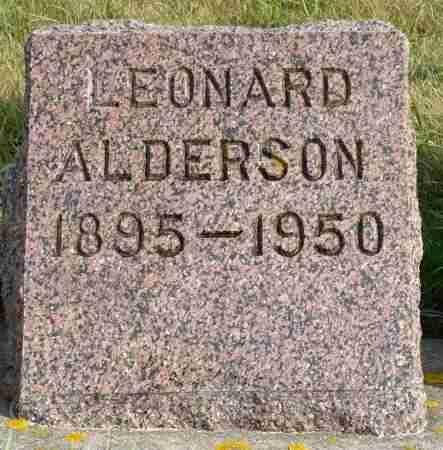ALDERSON, LEONARD - Minnehaha County, South Dakota | LEONARD ALDERSON - South Dakota Gravestone Photos