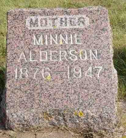 ALDERSON, MINNIE - Minnehaha County, South Dakota | MINNIE ALDERSON - South Dakota Gravestone Photos