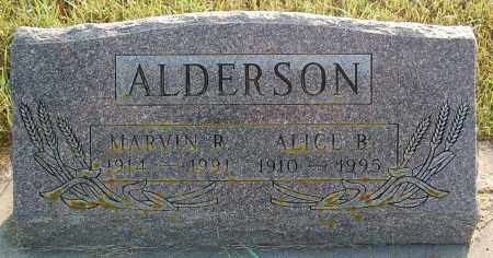 ALDERSON, ALICE B. - Minnehaha County, South Dakota | ALICE B. ALDERSON - South Dakota Gravestone Photos