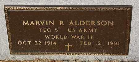 ALDERSON, MARVIN R. (WW II) - Minnehaha County, South Dakota | MARVIN R. (WW II) ALDERSON - South Dakota Gravestone Photos