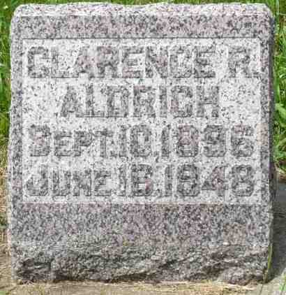 ALDRICH, CLARENCE R. - Minnehaha County, South Dakota | CLARENCE R. ALDRICH - South Dakota Gravestone Photos