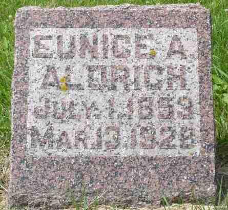 ALDRICH, EUNICE A. - Minnehaha County, South Dakota   EUNICE A. ALDRICH - South Dakota Gravestone Photos