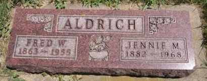 ALDRICH, FRED W - Minnehaha County, South Dakota | FRED W ALDRICH - South Dakota Gravestone Photos