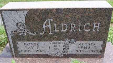 ALDRICH, LENA E - Minnehaha County, South Dakota | LENA E ALDRICH - South Dakota Gravestone Photos