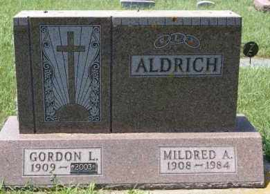 ALDRICH, MILDRED A - Minnehaha County, South Dakota   MILDRED A ALDRICH - South Dakota Gravestone Photos
