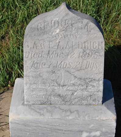 ALDRICH, GEORGE M. - Minnehaha County, South Dakota   GEORGE M. ALDRICH - South Dakota Gravestone Photos
