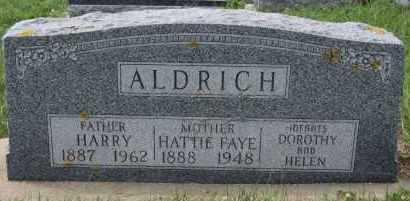 ALDRICH, HATTIE FAYE - Minnehaha County, South Dakota | HATTIE FAYE ALDRICH - South Dakota Gravestone Photos