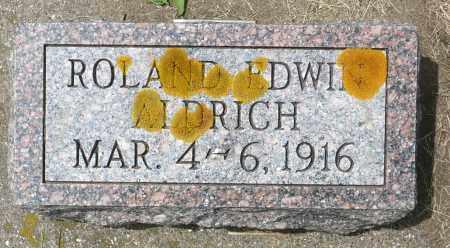 ALDRICH, ROLAND EDWIN - Minnehaha County, South Dakota | ROLAND EDWIN ALDRICH - South Dakota Gravestone Photos