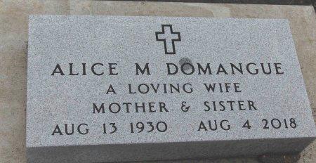 ALICE M., DOMANGUE - Minnehaha County, South Dakota   DOMANGUE ALICE M. - South Dakota Gravestone Photos