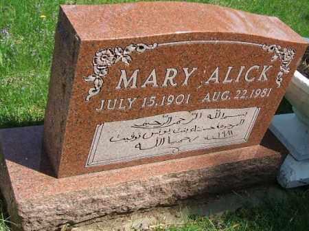 ALICK, MARY - Minnehaha County, South Dakota | MARY ALICK - South Dakota Gravestone Photos