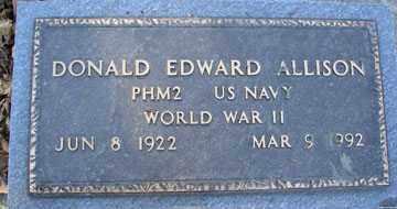 ALLISON, DONALD EDWARD (WWII) - Minnehaha County, South Dakota | DONALD EDWARD (WWII) ALLISON - South Dakota Gravestone Photos