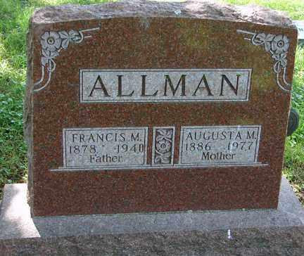 ALLMAN, FRANCIS M. - Minnehaha County, South Dakota | FRANCIS M. ALLMAN - South Dakota Gravestone Photos
