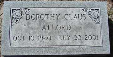 ALLORD, DOROTHY - Minnehaha County, South Dakota | DOROTHY ALLORD - South Dakota Gravestone Photos
