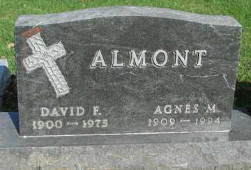 ALMONT, DAVID F. - Minnehaha County, South Dakota | DAVID F. ALMONT - South Dakota Gravestone Photos