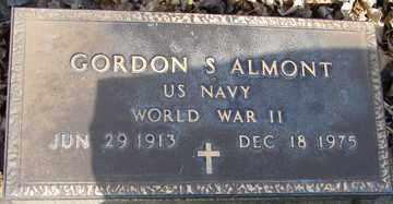 ALMONT, GORDON S. - Minnehaha County, South Dakota | GORDON S. ALMONT - South Dakota Gravestone Photos