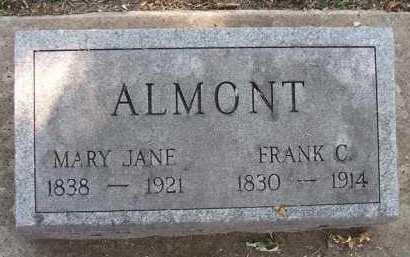 ALMONT, MARY JANE - Minnehaha County, South Dakota | MARY JANE ALMONT - South Dakota Gravestone Photos