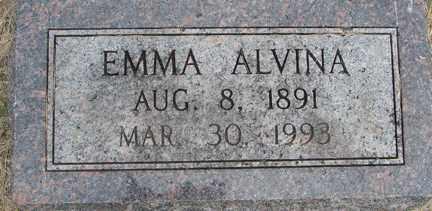 ALVINA, EMMA - Minnehaha County, South Dakota | EMMA ALVINA - South Dakota Gravestone Photos