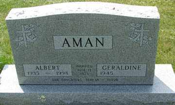 AMAN, ALBERT - Minnehaha County, South Dakota | ALBERT AMAN - South Dakota Gravestone Photos
