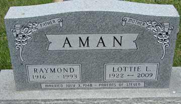 AMAN, RAYMOND - Minnehaha County, South Dakota | RAYMOND AMAN - South Dakota Gravestone Photos
