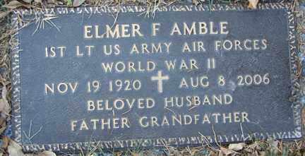 AMBLE, ELMER FRANK - Minnehaha County, South Dakota   ELMER FRANK AMBLE - South Dakota Gravestone Photos