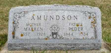 AMUNDSON, PEDER - Minnehaha County, South Dakota | PEDER AMUNDSON - South Dakota Gravestone Photos
