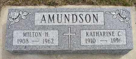 AMUNDSON, MILTON H. - Minnehaha County, South Dakota | MILTON H. AMUNDSON - South Dakota Gravestone Photos