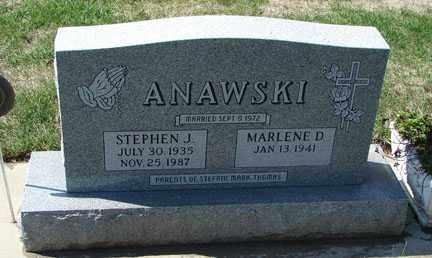 ANAWSKI, STEPHEN J. - Minnehaha County, South Dakota | STEPHEN J. ANAWSKI - South Dakota Gravestone Photos