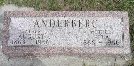 ANDERBERG, ETTA - Minnehaha County, South Dakota | ETTA ANDERBERG - South Dakota Gravestone Photos