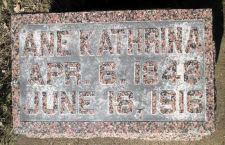 ANDERSEN, ANE KATHRINA - Minnehaha County, South Dakota | ANE KATHRINA ANDERSEN - South Dakota Gravestone Photos