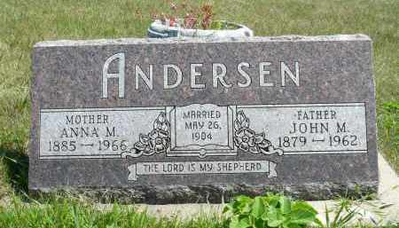 ANDERSEN, JOHN M. - Minnehaha County, South Dakota | JOHN M. ANDERSEN - South Dakota Gravestone Photos