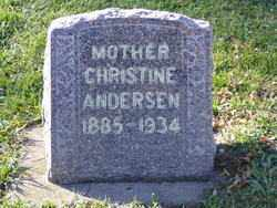 ANDERSEN, CHRISTINE - Minnehaha County, South Dakota | CHRISTINE ANDERSEN - South Dakota Gravestone Photos