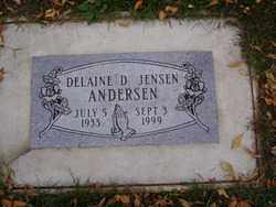 ANDERSEN, DELAINE D. - Minnehaha County, South Dakota | DELAINE D. ANDERSEN - South Dakota Gravestone Photos